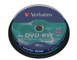 CID - Verbatim DVD-RW 4,7GB 4x 10db/henger újraírható dvd