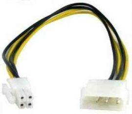 KÁBEL - Tápkábel - CPU táp 4 pin molex -> 4 pin CPU táp átalakító