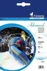 PAP - Fotópapír, 10x15, Victoria, 20lap 180g, fényes, LVIG04