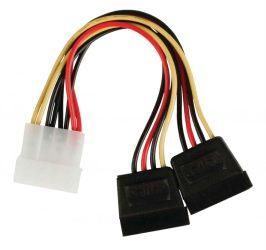 KÁBEL - Tápkábel - Molex -> Serial ATA tápátalakító 2-es