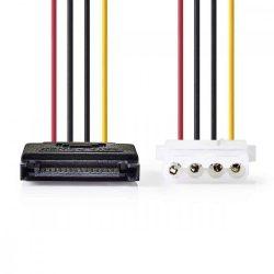 KÁBEL - Tápkábel - Serial ATA -> 1 x Molex, Nedis CCGP73530VA015