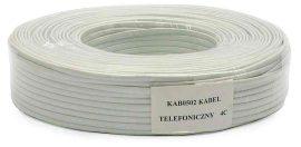 TELALK - 4 eres telefonkábel, lapos, fehér v. fekete színben