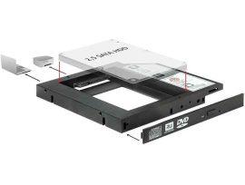 """KELLÉK - Átalakító 5.25 Slim SATA keret 1x2.5"""" SATA HDD-hez Delock 61993 12mm"""