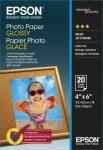 PAP - Fotópapír, 10x15, Epson, 100lap, 200g, fényes, C13S042548