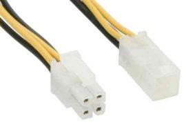 KÁBEL - Tápkábel - CPU táp 4 pin hosszabbító 0.37m 51359