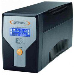 SZÜP - Infosec UPS E2 LCD 600VA, tiszta szinuszos jel