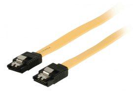 KÁBEL - Serial ATA kábel 6Gb/s 0.5m fém csatlakozóval, sárga