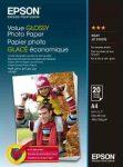 PAP - Fotópapír, A4, Epson Value,  20lap, 183g, fényes, C13S400035