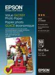 PAP - Fotópapír, 10x15, Epson Value,  50lap, 183g, fényes, C13S400038
