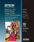 PAP - Fotópapír, 10x15, Epson Value, 100lap, 183g, fényes, C13S400039