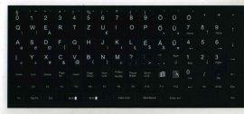B - Billentyűzet matrica, magyar, fekete alapon fehér betűk, Kolink