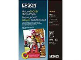 PAP - Fotópapír, 10x15, Epson Value,  20lap, 183g, fényes, C13S400037