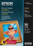 PAP - Fotópapír, 13x18, Epson, 50lap, 200g, fényes, C13S042545