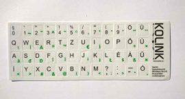 B - Billentyűzet matrica, magyar, fehér alapon fekete betűk, Kolink