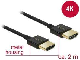KÁBEL - HDMI - HDMI kábel  2.0m, v1.4, premium, extra vékony, Delock 84773