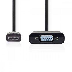 KELLÉK - Adapter, HDMI-A/M to VGA/F átalakító, Nedis CCGP34900BK02