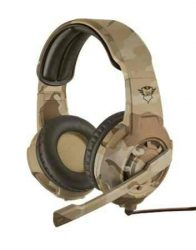HKM - Mikrofonos fejhallgató, Trust GXT310D Radius Gaming Headset, desert camo