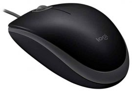 EL - Logitech B110 Silent Mouse USB egér, fekete, 1000dpi