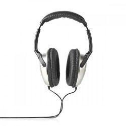 HKM - Fejhallgató, Nedis HPWD1201BK, 6m, ezüst/fekete