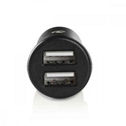 USB - USB töltő, autós, 2xUSB, 4.8A, Nedis CCHAU480ABK, fekete