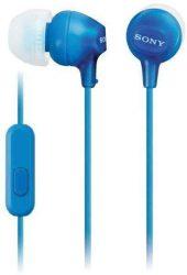 HKM - Mikrofonos fülhallgató, Sony MDR-EX15AP, kék