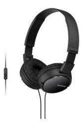HKM - Mikrofonos fejhallgató, Sony MDR-ZX110A, fekete