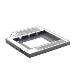 """KELLÉK - Átalakító 5.25 Slim SATA keret 1x2.5"""" SATA HDD-hez, Gembird, 12mm"""