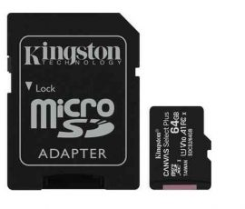 MK - MicroSD kártya  64Gb Kingston CL10 Canvas Select Plus 100R A1 + ad. (100)