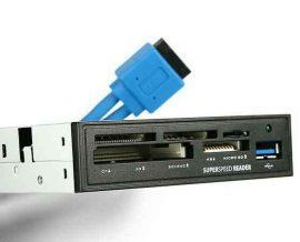"MK -  Kártyaolv, 3.5"", Axagon CRI-S3  USB3.0 + kártyaolvasó All-in-One"