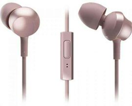 HKM - Mikrofonos fülhallgató, Panasonic RP-TCM360E-P, gyöngy