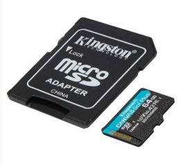 MK - MicroSD kártya  64Gb Kingston CL10 U3UHS-I V30 Canvas Go Plus+adapt(170/70)