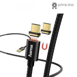 KÁBEL - USB 2.0 A-C kábel, 1.0m, mágneses, Hama