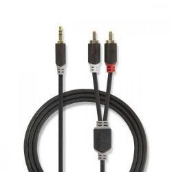 "KÁBEL - Audio kábel 3.5"" jack-2RCA  5.0m, Nedis CABW22200AT50"