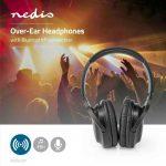 HKM - Nedis Bluetooth fejhallgató, HPBT1201BK