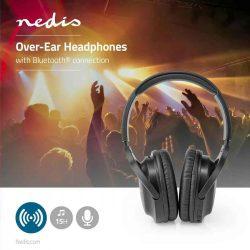 HKM - Bluetooth-os mikrofonos fejhallgató, Nedis HPBT1201BK
