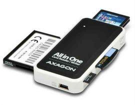 MK -  Kártyaolv, Axagon CRE-X1, USB 2.0, SD/microSD/MS/CF/XD