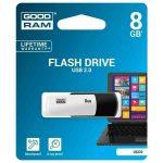 M - Pendrive   8GB Goodram UCO2, USB2.0, fekete-fehér
