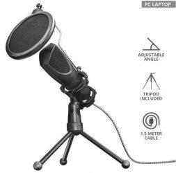 HKM - Mikrofon, asztali, Trust Mantis Streamelő mikrofon, USB, GXT232