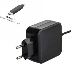 NBK - NB adapter, Akyga AK-ND-60 45W (5-20V, 2.25-3A) USB type C, PowerDelivery
