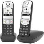 TEL - Gigaset A690 DUO hordozható, kihangosítható DECT telefon, fekete