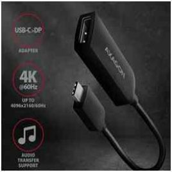 KELLÉK - Adapter, USB-C - Displayport, 20cm, Axagon, fekete