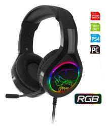 HKM - Mikrofonos fejhallgató, Spirit of Gamer PRO-H8 RGB (multiplatform, jack)