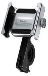 TELALK - Telefontartó, motorra/kerékpárra rögzíthető, Baseus Knight, ezüst