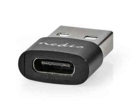 KÁBEL - USB 2.0 USB-A dugó - USB-C aljzat, adapter, fekete, CCGP60920BK
