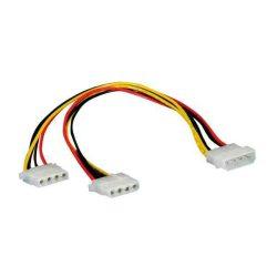 KÁBEL - Tápkábel - Molex -> 2 x Molex Y tápkábel, CCGP74020VA015
