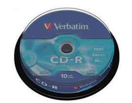 CI - Verbatim CD-R80 52x 10db/henger írható cd lemez