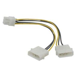 KÁBEL - Tápkábel - PCIexpress 6pin, Molex tápról alakít